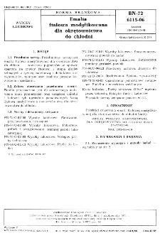 Emalia ftalowa modyfikowana dla okrętownictwa do chłodni BN-72/6115-06