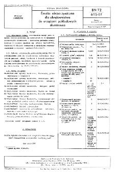 Emalia olejno-żywiczna dla okrętownictwa do urządzeń pokładowych aluminiowa BN-72/6115-07