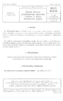 Emalia ftalowa modyfikowana specjalna schnąca w piecu krystaliczna czarna BN-75/6115-10