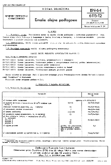 Emalie olejne podłogowe BN-64/6115-12