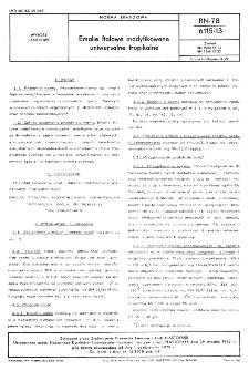 Emalie ftalowe modyfikowane uniwersalne tropikalne BN-78/6115-13
