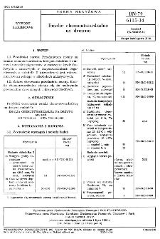 Emalie chemoutwardzalne na drewno BN-79/6115-14