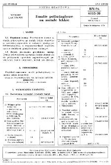 Emalie poliwinylowe na metale lekkie BN-76/6115-20