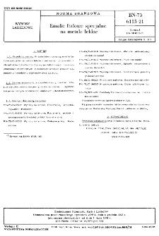 Emalie ftalowe specjalne na metale lekkie BN-73/6115-21