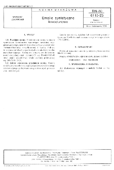 Emalie syntetyczne kreodurowe BN-80/6115-23