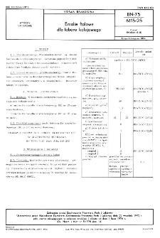 Emalie ftalowe dla taboru kolejowego BN-75/6115-25