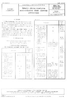 Emalia olejno-żywiczna wodoodporna khaki ciemna półmatowa BN-74/6115-27