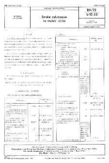 Emalie celulozowe na metale lekkie BN-75/6115-33