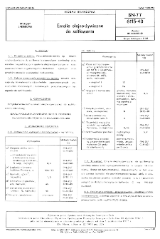 Emalie olejno-żywiczne do szlifowania BN-77/6115-40