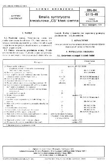 "Emalia syntetyczna kreodurowa ""CS"" khaki ciemna BN-84/6115-49"