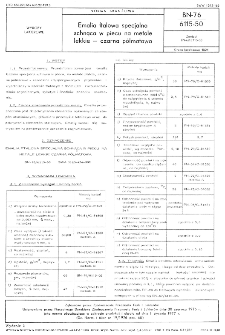 Emalia ftalowa specjalna schnąca w piecu na metale lekkie - czarna półmatowa BN-76/6115-50