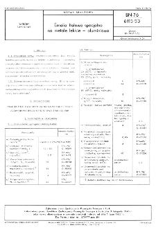 Emalia ftalowa specjalnana metale lekkie - aluminiowa BN-76/6115-53