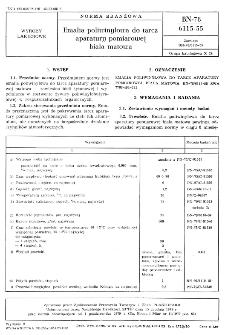 Emalia poliwinylowa do tarcz aparatury pomiarowej biała matowa BN-78/6115-55