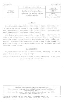 Emalie chlorokauczukowe odporne na paliwa płynnE i wodę morską BN-75/6115-61