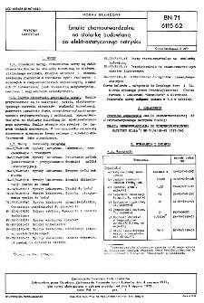 Emalie chemoutwardzalne na stolarkę budowlaną do elktrostatycznego natrysku BN-71/6115-62