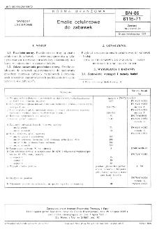 Emalie celulozowe do zabawek BN-86/6115-71