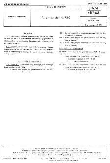 Farby emulsyjne UIC BN-74/6117-03