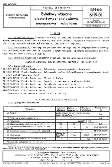 Sykatywy stapiane olejno-żywiczne: ołowiowa, manganowa i kobaltowa BN-66/6119-01