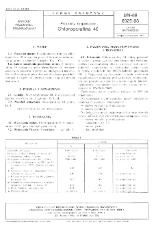 Produkty organiczne - Chloroparafina 40 BN-89/6025-03