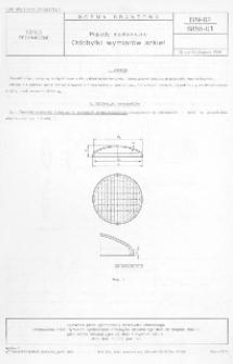 Pojazdy mechaniczne - Odchyłki wymiarów szkieł BN-62/6855-01
