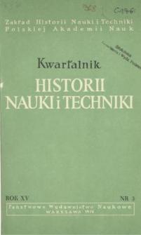 Kwartalnik Historii Nauki i Techniki R. 15 nr 3/1970