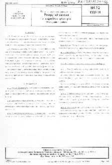 Silniki z zapłonem samoczynnym - Pompy wtryskowe z napędem własnym - Wymagania i badania BN-72/1301-01