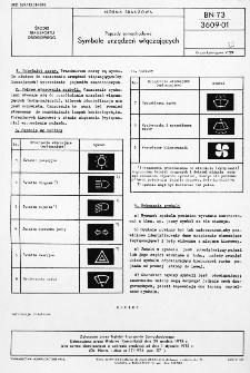 Pojazdy samochodowe - Symbole urządzeń włączających BN-73/3609-01