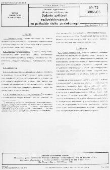 Lotnicze wyposażenie elektryczne i elektroniczne - Badania zakłóceń radioelektrycznych na pokładzie statku powietrznego BN-73/3886-05