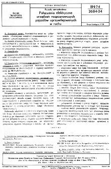 Pojazdy samochodowe - Połączenia elektryczne urządzeń rozpoznawczych pojazdów uprzywilejowanych w ruchu BN-74/3684-04