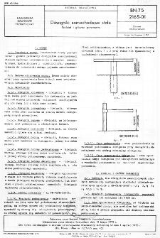 Dźwigniki samochodowe stałe - Podział i główne parametry BN-75/2165-01