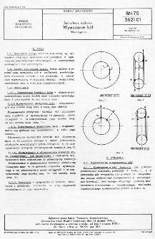 Samochody osobowe - Wyważanie kół - Wymagania BN-75/3621-01
