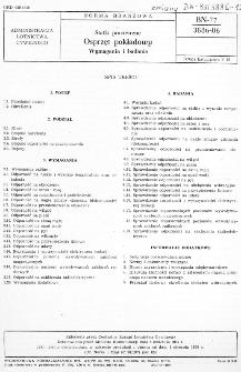 Statki powietrzne - Osprzęt pokładowy - Wymagania i badania BN-77/3886-06
