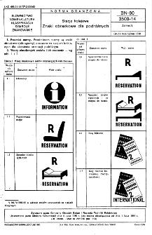 Stacje kolejowe - znaki obrazkowe dla podróżnych BN-80/3500-14