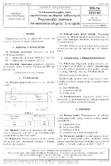 Telekomunikacyjne linie napowietrzne na słupach żelbetowych - Poprzeczki stalowe do montażu słupów A-owych BN-74/3231-01