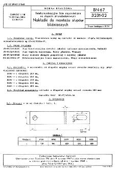 Telekomunikacyjne linie napowietrzne na słupach strunobetonowych - Nakładki do montażu słupów bliźniaczych BN-67/3231-02