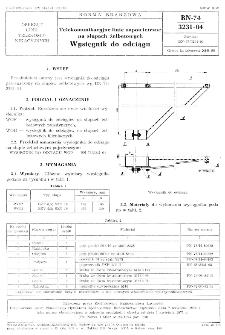 Telekomunikacyjne linie napowietrzne na słupach żelbetowych - Wysięgnik do odciągu BN-74/3231-04
