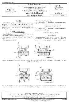 Telekomunikacyjne linie napowietrzne na słupach prefabrykowanych - Konstrukcje do umocowania skrzynek kablowych 30- i 60-parowych BN-74/3231-07