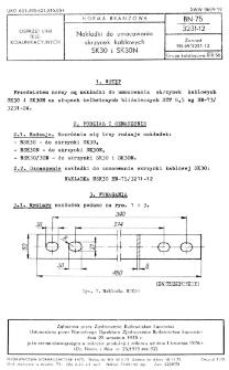 Nakładki do umocowania skrzynek kablowych SK30 i SK30N BN-75/3231-12