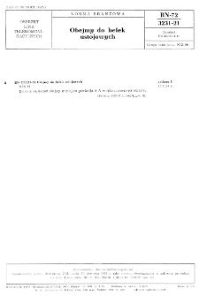 Obejmy do belek ustojowych BN-72/3231-21