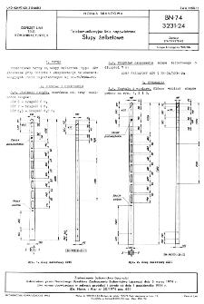Telekomunikacyjne linie napowietrzne - Słupy żelbetowe BN-74/3231-24