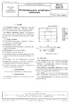 Prefabrykowana przykrywa żelbetowa BN-72/3233-12