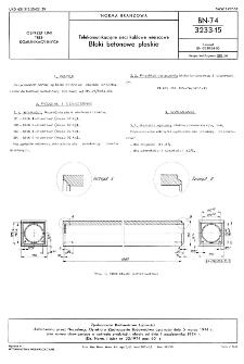 Telekomunikacyjne sieci kablowe miejscowe - Bloki betonowe płaskie BN-74/3233-15