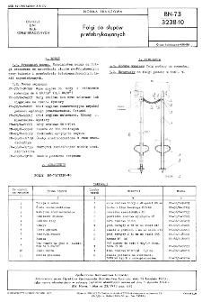 Folgi do słupów prefabrykowanych BN-73/3238-10