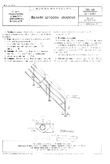 Barierki schodów, okrętowe BN-88/3713-07
