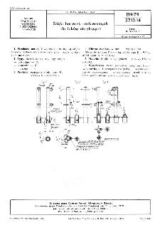 Stójki barierek rozbieralnych dla luków okrętowych BN-79/3713-14