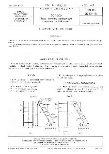 Schody - Typy, wymiary podstawowe i wymagania techniczne BN-85/3713-18