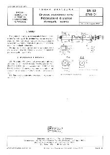 Okrętowe przetwórstwo rybne - Przenośniki śrubowe - Wymagania i badania BN-80/3741-01