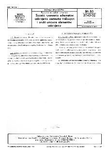Rybackie narzędzia połowowe - Sposób rysowania schematów uzbrojenia zestawów trałowych i znaki umowne elementów uzbrojenia BN-83/3743-02