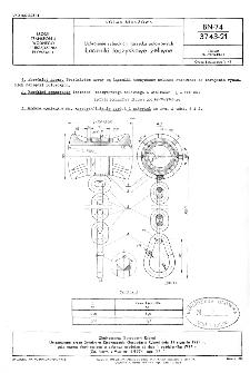 Uzbrojenie rybackich narzędzi połowowych - Łaczniki łożyskowe żeliwne BN-74/3743-21