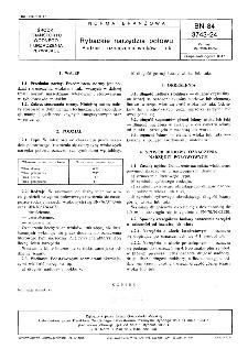 Rybackie narzędzia połowu - Podział i oznaczenia włoków i tuk BN-84/3743-24
